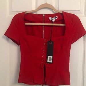 I.AM.GIA red corset top * brand new *